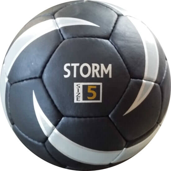 Storm Size 5 Match Ball Black Silver