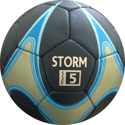 Picture of Storm Match Soccer Ball - Hand Stitched - PU  Size 5 - Black,Blue