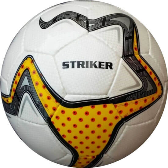 Picture of Striker White and Yellow Hand-Stitched Training Soccer Ball