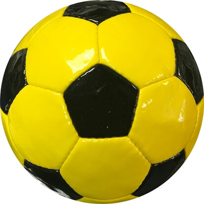 Gold Black Soccer Ball