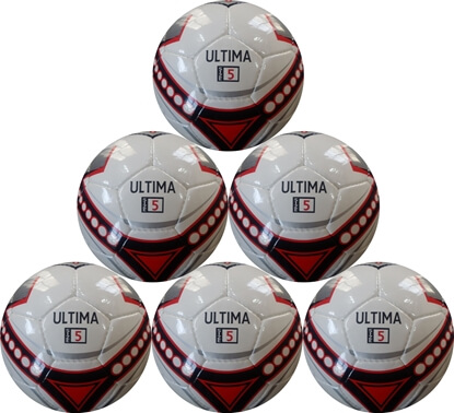 Ultima Red Black White Size 5 Match Ball six pack