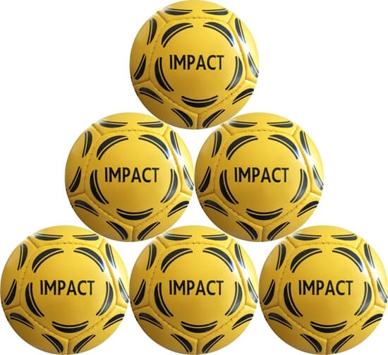 Impact Mini Soccer Ball Size 2 Six Pack