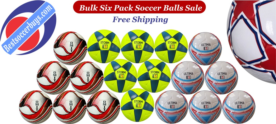 Soccer Balls Clearance in Bulk Six Packs