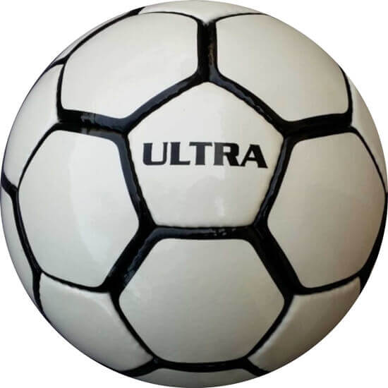 Picture of Ultra Soccer Ball - Hand Stitched - Synthetic PU Leather - Latex Bladder - Soft Touch  Black White