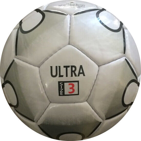 Picture of Ultra Soccer Ball - Hand Stitched - Synthetic PU Leather - Latex Bladder - Soft Touch Silver