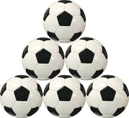 Black & White Classic Soccer Ball Six Balls Picture