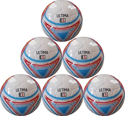 Ultima Soccer Ball - Six Pack - Hand Stitched Size 5 Match Ball