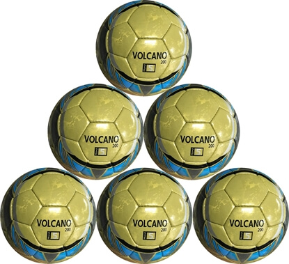 Volcano 200 Soccer Ball - Hand Stitched - Professional Soccer Ball - Size 5 - Six Pack Ball