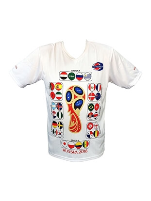 Picture of Soccer World Cup 2018 Jersey Qualifiers Categorized With Groups Gift For Soccer Fans
