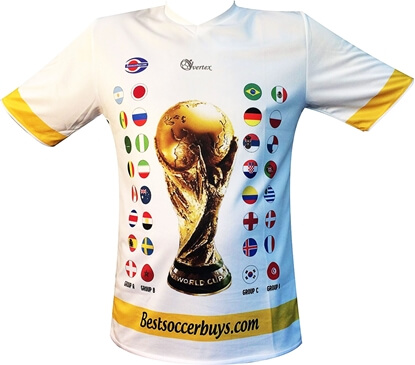 Picture of Soccer World Cup 2018 Russia Qualifiers Country Flags Soccer Jersey