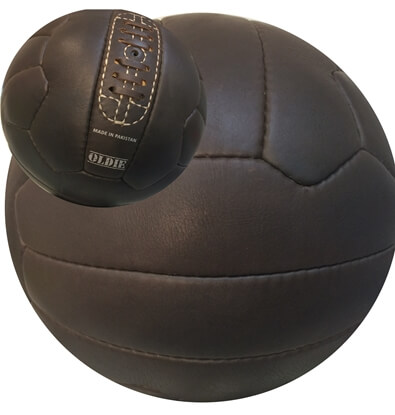 Oldie Vintage Soccer Ball Image 2 With Real Leather & Laces