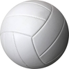 Picture of All White Autograph Volley Balls for Practice and Kids - 18 panel Volley Ball - Six Pack