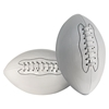Picture of White Football Ball Plain Smooth Glossy Finish for Autographs Signing Leisure Play - Size 9
