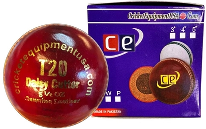 Picture of Cricket Ball T20 Daisy Cutter Red Leather for T20 Cricket Matches, Tournaments and Practice Buy Single Ball