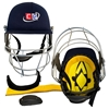 Picture of Navy Blue Revolution Cricket Helmet For Head & Face Protection by Cricket Equipment USA