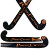 Picture of Field Hockey Stick Orange Coral 50% Composite Carbon 50% Fiber Glass Medium Bow M-Bow - Power Curves 35'' Inch 36.5'' Inch 37.5'' Inch