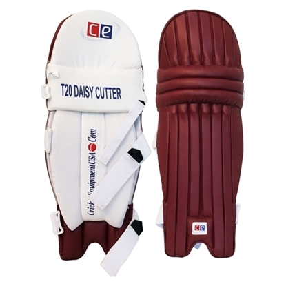 Picture of T20 Daisy Cutter Maroon Leg Guards by CE