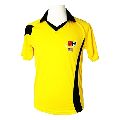 Picture of Colored Cricket Kit Shirts Australian Colors Gold & Dark Green
