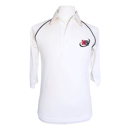 Picture of Cricket Whites Shirts 3/4 Long Sleeves Cricket Jersey