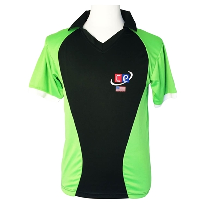 Picture of Colored Cricket Uniform Pakistan Colors Shirt by CE