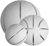 Picture of White Basketball Ball for Autographs Signing Leisure Play - Full Size 7