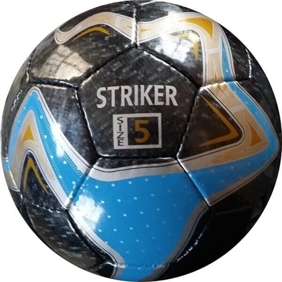 Picture of Soccer Balls 32 Panels -Striker Soccer Ball - Hand Stitched - PU-PVC Synthetic two Tone shine
