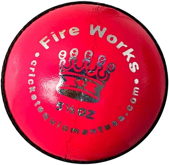 Picture of Cricket Ball Fireworks Pink Leather by CE