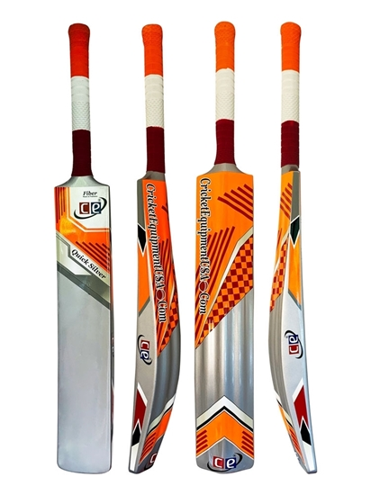 Picture of CE Quick Silver Fiberglass Composite Light Weight 2 LBS Pounds Water Proof Cricket Bat Full Size Short Handle