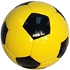 Picture of Bulk Deflated Gold Yellow Black Classic Traditional Soccer Balls Based On Volume Old School Balls