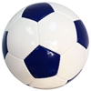 Picture of Bulk Deflated Navy Blue White Classic Traditional Soccer Balls Based On Volume Old School Balls