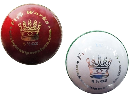 Picture of Cricket Balls Fireworks Red White Two Balls by CE