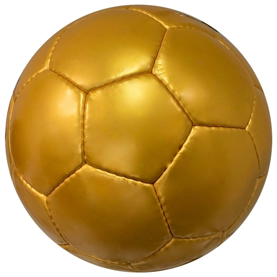 Picture of Plain All Gold Yellow Soccer Balls - Official Size 5 Balls