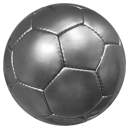 Picture of Plain All Silver Soccer Balls - Official Size 5 Balls