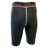 Picture of Workout Training Compression Shorts Plain Black Athletics Running Swimming MMA Long Knee Length