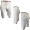 Picture of Workout Training Compression Shorts Plain White Athletics Running Swimming MMA Long Knee Length