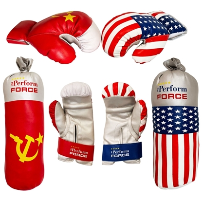 American & Russian Themes Boxing Set