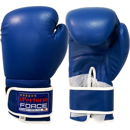 Picture of Training Boxing Gloves Men Women for Mixed Martial Arts Color Blue