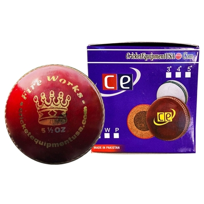 Picture of Cricket Ball Fireworks Red Leather by CE