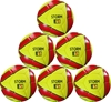 Picture of Storm Match Soccer Ball  Six Pack - Hand Stitched - PU  Size 5 - Yellow Red Bulk Soccer Balls, Discounted Soccer Balls, Soccer Balls Clearance, Soccer Balls by Dozens,