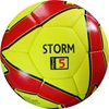Storm Match Soccer Ball - Hand Stitched - PU Size 5 - Yellow/Red