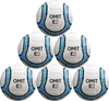 Picture of Omit Soccer Ball Six Pack - Hand Stitched - Synthetic PU Leather - Latex Bladder - Soft Feel Sky Blue Black