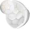 Picture of Bulk White Soccer Balls Size 5 Deflated Sign Autograph Party Favors Painting Bar Mitzvah Coaches Gift